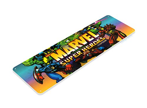 Tinworld Tin Sign Arcade Marvel Super Heroes Game Room Marquee Metal Sign Decor Retro Console A892