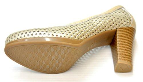 Zapato salón con tacón de 8 cm. - Pitillos 1650 Oro Piedra
