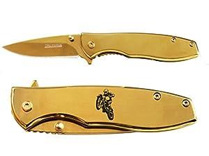 "Tac-Force 2.5"" Spring Assisted Folding Pocket Knife EDC Executive Series Gold Mirror Finish NDZ - Choose Your Design"