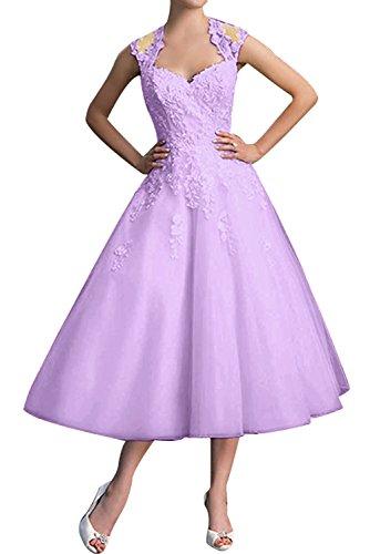 Diseño sin tirantes de la Toscana de la novia vestidos de noche vestidos de fiesta corto regreso de cóctel de satén Lilac