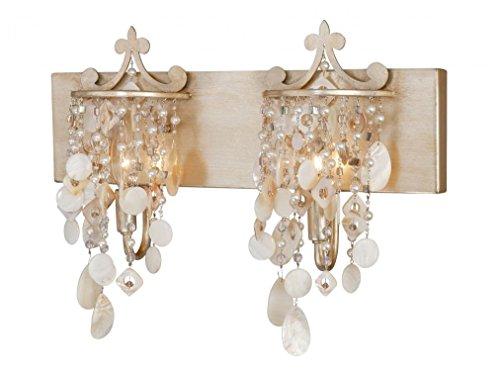 Table Anastasia Lamp (Vaxcel W0009 Anastasia 2 Light Vanity Light, Silver Leaf Finish)