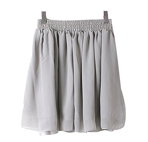 CoutureBridal - Falda - trapecio - para mujer gris
