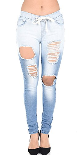Drawstring Cropped Jeans - 4