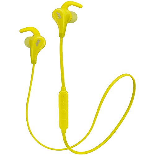 JVC Wireless Waterproof Extreme Fitness Bluetooth Wireless Inner Earbud Pivot Fin Lock Yellow (HAET50BTY) (Headphone Bluetooth Jvc)