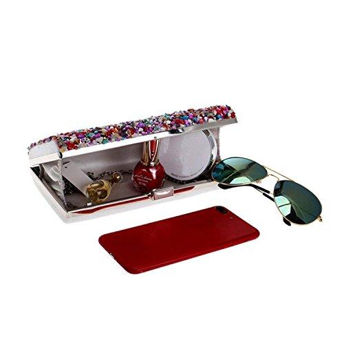 Key Candy Summer Shoulder Evening Phone Bag Female ONDiamonds Ym1096silver Handbags Wallets Day Small Rising Clutch Chain 4TxOwqI