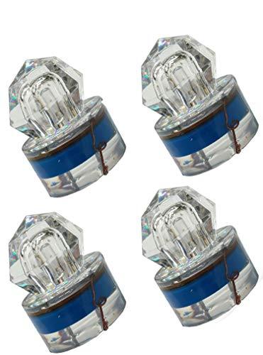 LED 4PACK Deep Drop Underwater Diamond Shape Fishing Flashing Light Bait Lure Squid, 350hrs Lifespan, 1000M Deep -