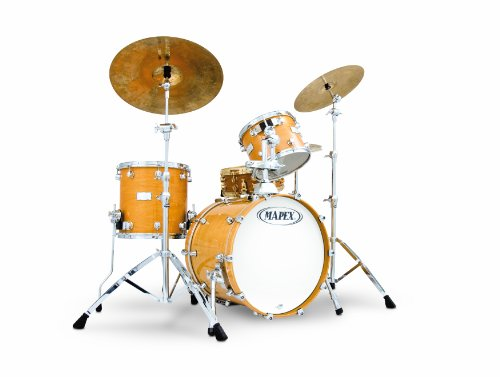 Mapex Saturn Series Walnut and Maple Manhattan 4-Piece Drum Set in Gloss Natural Lacquer Finish