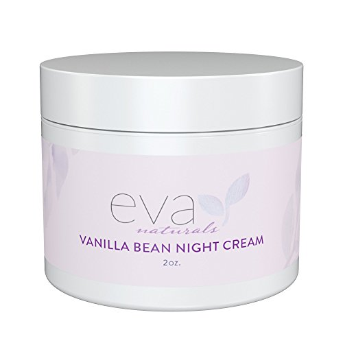 Vanilla Bean Night Cream by Eva Naturals (2 oz) - Best Anti-Aging Night Cream Boosts Collagen and Hydrates Complexion - Helps Protect against Damage and Nourish Skin - With Vitamin E and Green Tea ()
