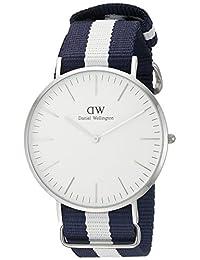 Daniel Wellington Men's 0204DW Glasgow Stainless Steel Watch with Striped Nylon Band