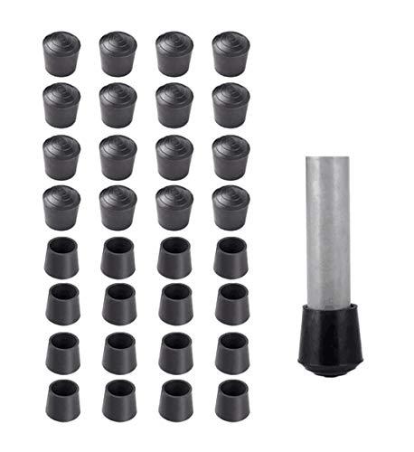 Rubber Anti Slip Tip - Kissmi Pack of 32 Chair Leg Tips Caps 7/8 inch Anti Slip Rubber Table Leg Cap,Black