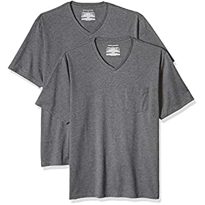 Best Epic Trends 41FwtrjUs3L._SS300_ Amazon Essentials Men's 2-Pack Regular-Fit Short-Sleeve V-Neck Pocket T-Shirt