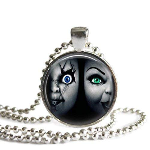 Bride of Chucky 1 Inch Silver Plated Picture Pendant Necklace]()