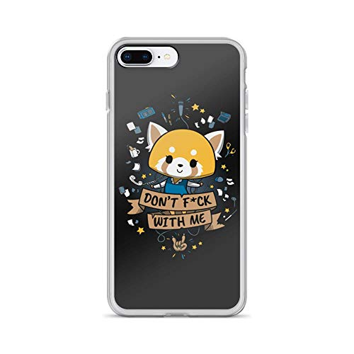 iPhone 7 Plus/8 Plus Pure Clear Case Cases Cover Don't FCK with Me Little but Tough Cute Cat Animal Cartoon