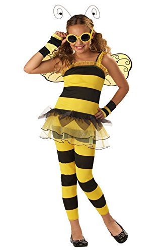 Mememall Fashion Sassy Insect Little Honey Bumble Bee Child Costume (Child Blue Ranger Muscle Costume)