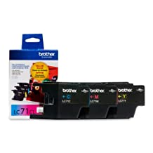 Brother LC713PKS Innobella Standard Yield Ink Cartridge - 3 Pack - 1 Each of LC71C, LC71M, LC71Y - Retail Packaging-Cyan/Yellow/Magenta