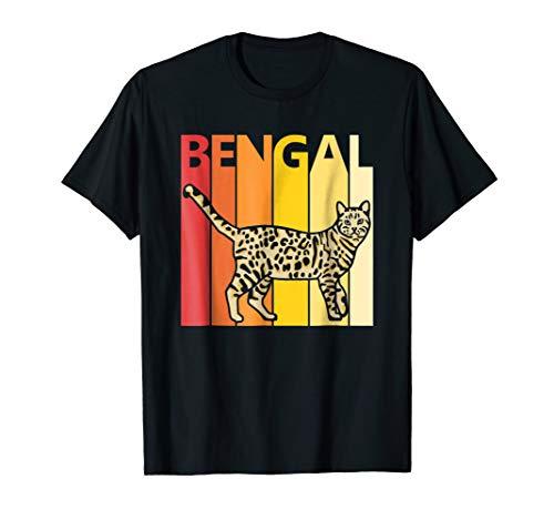 Retro Bengal Cat T-shirt Merry Christmas Gift