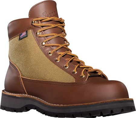 """Danner Danner® Light 6"""",Brown/Green Full Grain Leather/Nylon,US 7 M"""