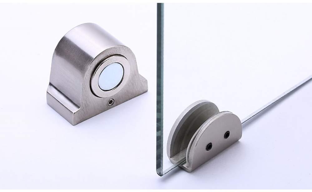 Ladybug Shine - Magnet Glass Door Stop Stainless Steel Door Stopper Magnetic Door Holder Toilet Glass Door Doorstop Furniture Hardware Tool