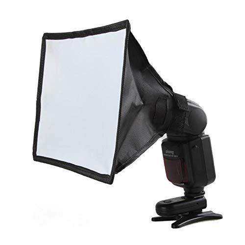 MDFGHJD Silver Reflector Flash Diffuser Softbox Professional Mini Photo Diffuser Soft Light Box for Canon Nikon Sony Camera 17Cm15Cm by MDFGHJD
