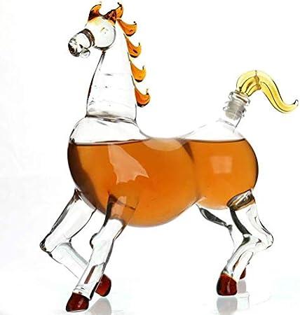 YYhkeby Vidrio de Whisky, Gafas de Whisky de Cristal Libre de 750 ml, hogar, restaurantes y Fiestas (Caballo) Jialele