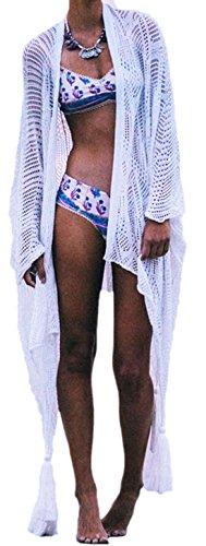 erdbeerloft - Conjunto - Semitransparente - para mujer blanco blanco talla única