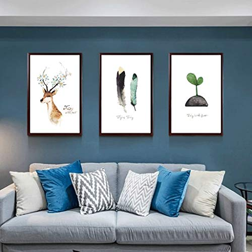 LFJKS Photo Wall Creative Triple Combination Photo Frame Living Room Hanging Photo Wall Without Nails Hanging Wall (Color : B)
