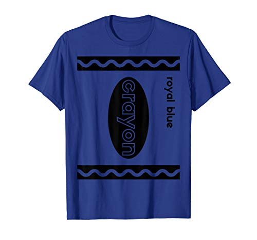 Funny Last Minute Group Costume Halloween, Royal Blue Crayon T-Shirt
