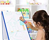 Kid's Dry Erase Board Stand-Up Easel Whiteboard