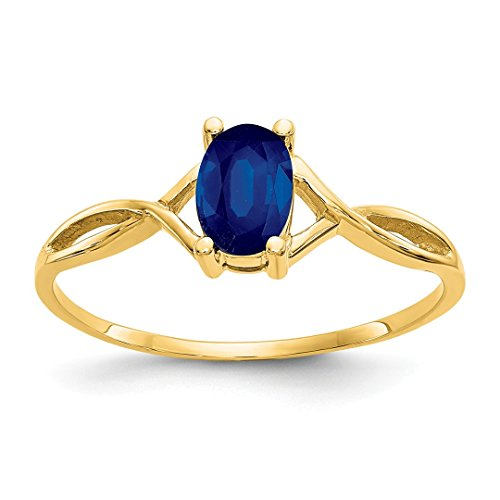 ICE CARATS 14kt Yellow Gold Sapphire Birthstone Band Ring Size 7.00 Stone September Oval Style Fine Jewelry Ideal Gifts For Women Gift Set From (Best Yellow Sapphire)