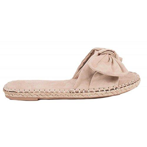 Primtex Zapatos de Cordones de Material Sintético Mujer, Beige (Beige), 39
