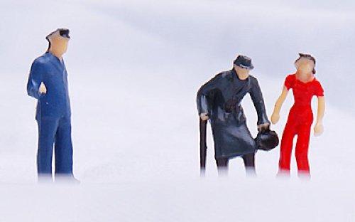 24pcs Figurines des Personnes Peintes pour Mod/èle de Train Echelle HO 1 /à 87