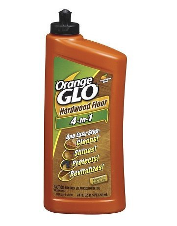 Orange Glo Hardwood Floor 4-in-1 One Easy Step Cleaner Fresh Orange Scent 24.0fl oz, 4 PK