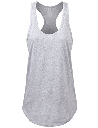 sic Jersey Racer-Back Hgrey Tank Top Small ()