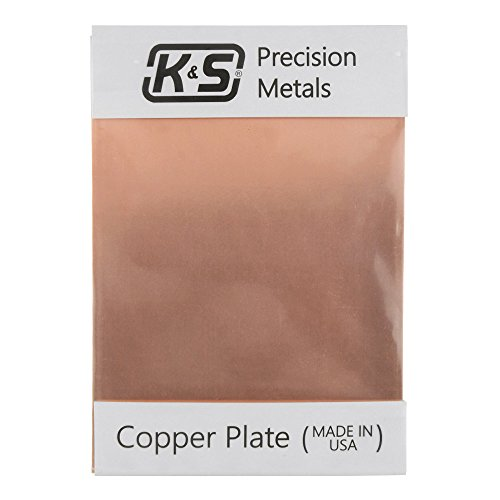 K&S Precision Metals 6602 Copper Etching Plate, 0.050