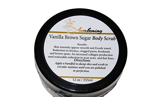 - Our BEST Vanilla Argan Oil Brown Sugar Scrub 12 oz - A Powerful Remedy for Varicose Veins, Cellulite, Stretch Marks, Eczema & Acne - Deep Skin Exfoliator - Promotes Cell Repair & Skin Rejuvenation