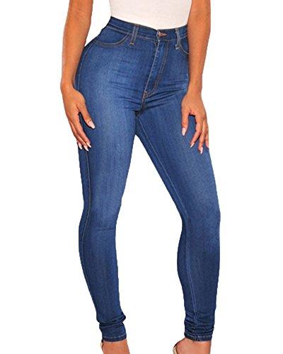Up Mezclilla Elástico Push Pantalones Flacos Vaqueros Imagen Leggings Anyu La Como Jeans Mujeres tw0qwa8