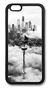 iPhone 6 Cases, Seattle Space Needle Tower Durable Soft Slim TPU Case Cover for iPhone 6 4.7 inch Screen (Does NOT fit iPhone 5 5S 5C 4 4s or iPhone 6 Plus 5.5 inch screen) - TPU Black