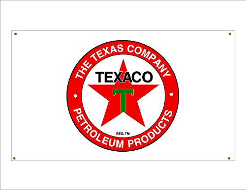 Signs By Woody Texaco Gasoline Garage Banner Man Cave Banner