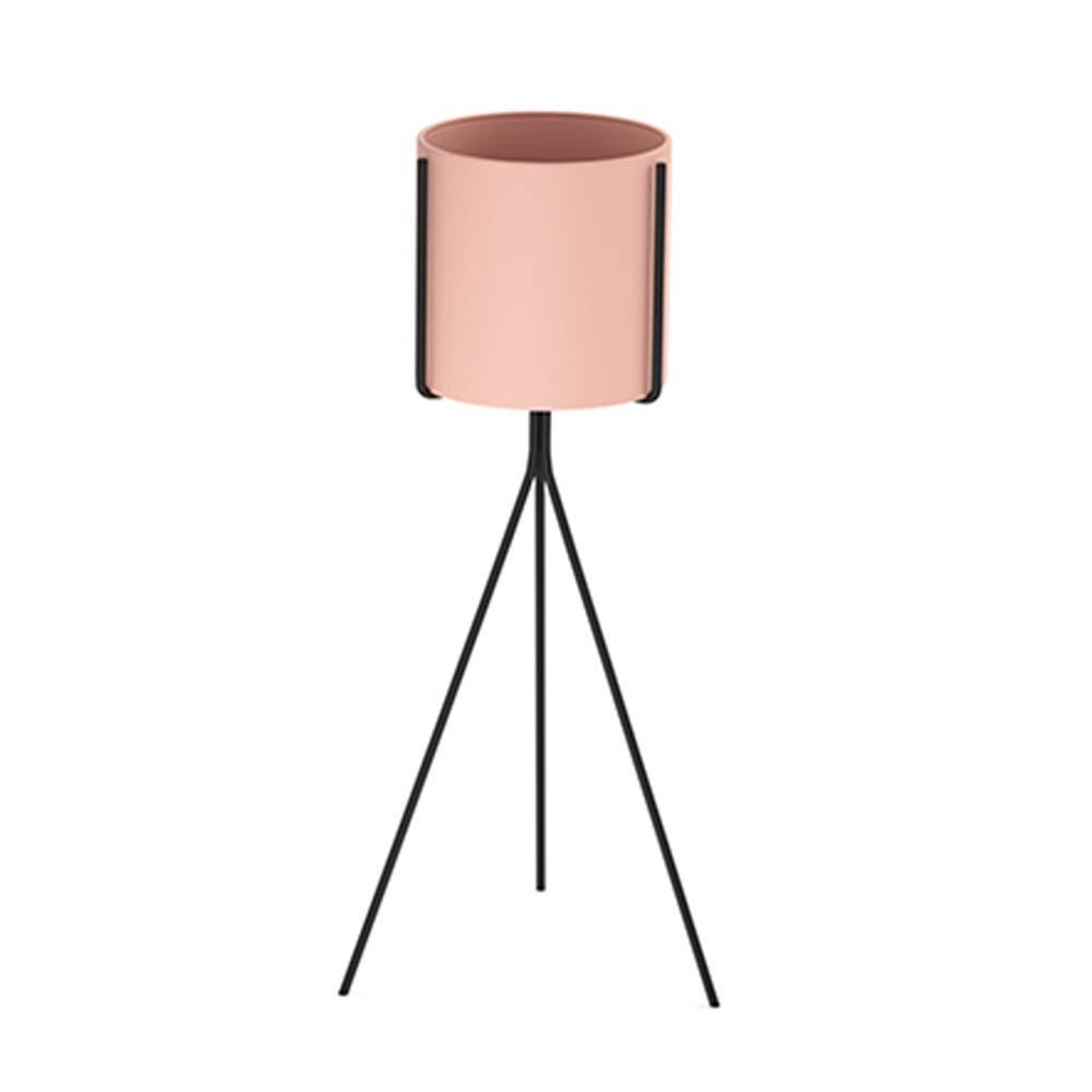 YYFANG フラワースタンド北欧のシンプルさ 鉄の床 リビングルームの植木鉢植物スタンド 三角サポート 7色、2サイズ (Color : Pink, Size : 80x30cm) B07T3SZGC1 Pink 80x30cm