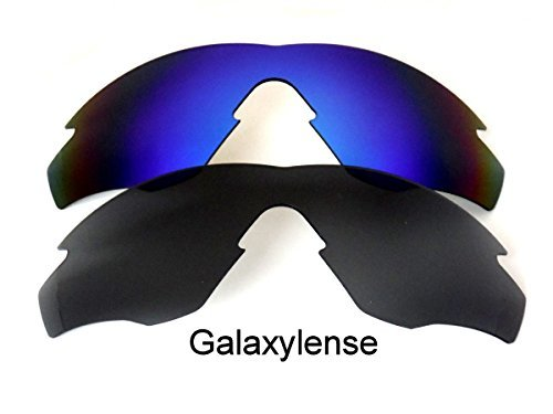 ea65a5127c Image Unavailable. Image not available for. Color  Galaxy Replacement Lenses  For Oakley M2 Frame Black Blue Polarized ...