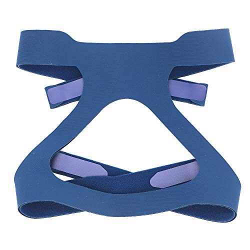 Universal CPAP Headgear, Hersvin Replacement Headband Straps Compatible with Most Nasal, Full-Face Sleep Apnea Masks of Respironics, Resmed, Resmart (Blue)