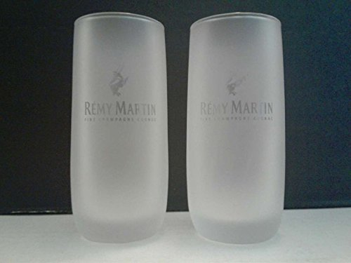 - Set of 4 Remy Martin Fine Champagne Cognac Frosed Tasting Shot Glasses
