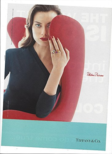 **PRINT AD** With Shalom Harlow For 2006 Tiffany & Co Paloma Picasso Rings **PRINT - Tiffany And Sale Co