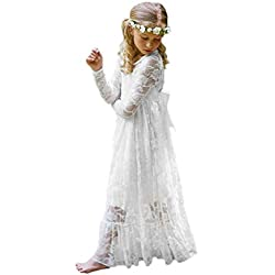 2017 New Lace Girl First Communion Dress A-Line Girl Gown White Size 6