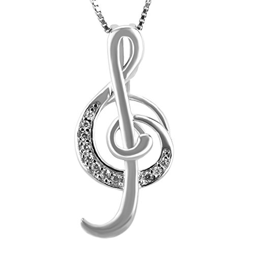 NY Jewelry 925 Sterling Silver Treble Clef Pendants for Pearl, Design Pearl Cage Pendants for Women Girls Gift DIY Jewelry Making ()
