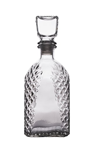 PrestoWare 5005, 0.5L/16.9-Ounce Old Fashioned Wine, Liquor and Whiskey Glass Decanter, Whiskey/Brandy Carafe with Glass Stopper