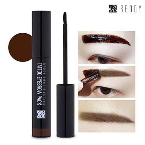 [REDDY] Long Lasting Tattoo Eyebrow Pack 10g, Peel-Off 7 Days Eyebrow Tint Gel, Made in Korea (Dark Brown)