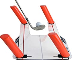 The STRYK Easy Path Golf Swing Training Aid has proven to be one of the best training aids for golfers of all levels. It teaches you to swing your club on the correct swing plane, and strike the ball cleanly. With the ability to remove and mo...