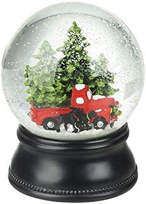 Heaven Sends Christmas Trees /& Red Car Snowglobe