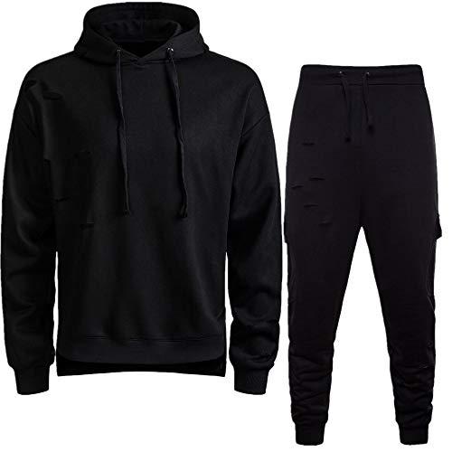 Pants Inverno Suit Pantaloni Abcone Autunno Sport Nero Tuta Felpa Uomo Top Elastici Casual Sportiva Set Leisure Uomo Maschi AqxOAY8